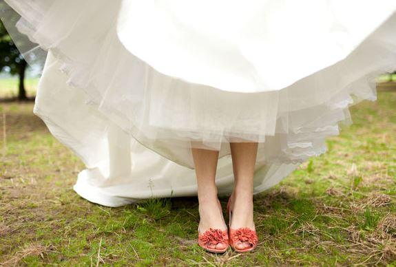 Osez les chaussures de mariée en couleur